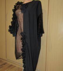črna asimetrična tunika