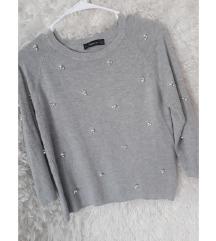 Zara pulover s perlicami