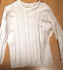 Bel pulover - ročno delo