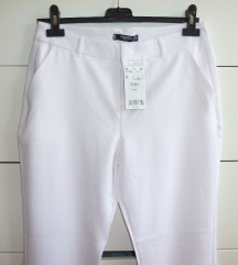 NOVE bele hlače MANGO, vel. M (38)