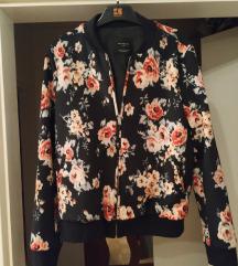 Bomber jakna z rožami