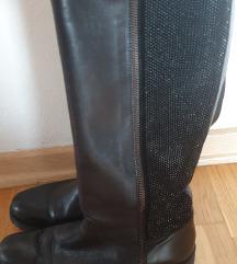Tosca Blu usnjeni škornji z bleščicami  št.37