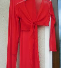 Nov rdeč hlačni komplet