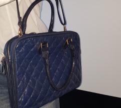 Usnjena torbica-temno modra