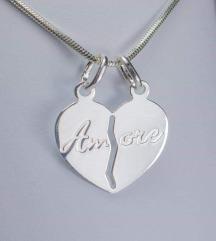 Srebrni obesek (pravo srebro 925) Amore