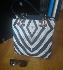 Srednje velika zebrasta torbica