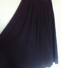 črno plise krilo,zimsko,S-M