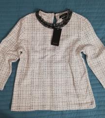nova bluza majica Reserved XS belo črna