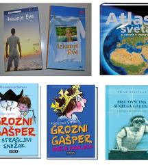 Atlas sveta in razne knjige