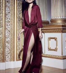 Peace + love večerna obleka rdeče-vijolične barve
