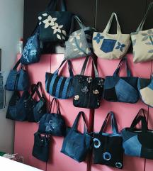 Ročno narejene torbice iz jeansa