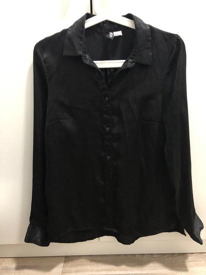 Črna elegantna bluza