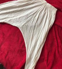 Poletne bele baggy hlače - aladinke