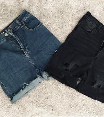 Ultra high waist kratke hlace
