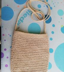 Mini poletna pletena torbica