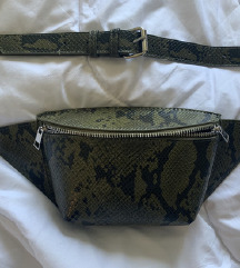 Snake print fanny pack
