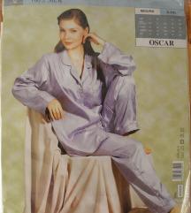 Pižama 100% svila (modra in bež)