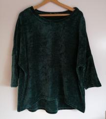 Zelen žamet pulover Orsay
