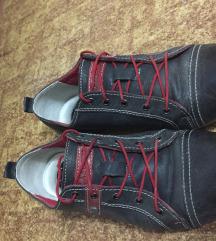 Žinski čevlji - rdeče-sivi