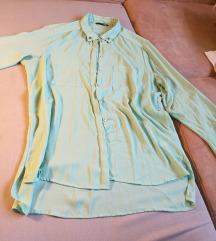 H&M mint daljša oversize srajca