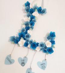 Črke z rožami (personalizirane)