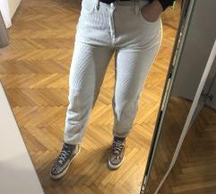 Semiš beige hlače nove