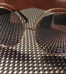 Sončna očala oversize, vintage, zlata