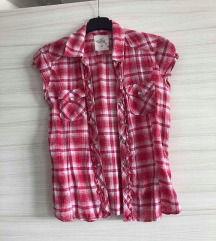NOVA H&M roza karirasta srajčka XS/S