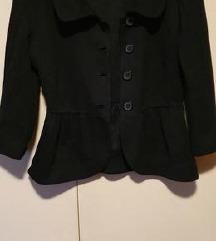 črna krajša jaknica, jopca H&M