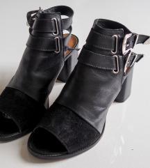 Topshop črni usnjeni čevlji