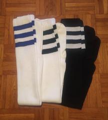 3x športne nogavice nadkolenke št.38-40