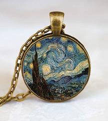 Ogrlica z motivom Zvezdnate noči (Van Gogh)