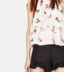 Zara NOV embroidred top