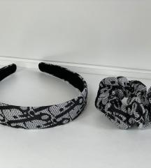 Dior schrunchie in obroč za lase