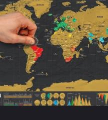 Travel scratch off Map 42x30