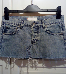 Ripped jeans denim super short mini krilo MOTO S