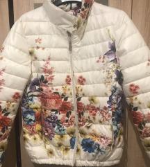 Prehodna jaknica flower print