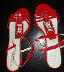 Usnjeni sandali vel.40(Alpina,pravo usnje)