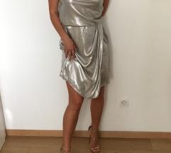 obleka S srebrna hm