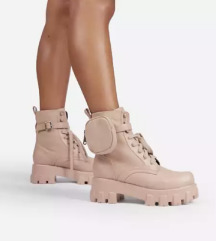 Chunky boots with pocket