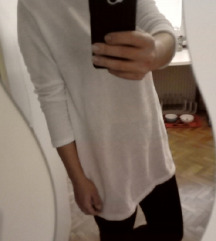 Bel mehek pulover obleka M
