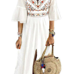 BOHO bela obleka