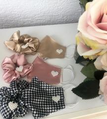 paketi pralne maske s svileno podlogo in scrunchie