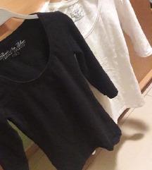 majica 34 in 36 črna bela 38   NOVO