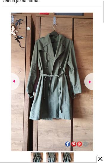 Nova kvalitetna zelena jakna trench nafnaf