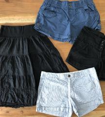 3x kratke hlače+krilo
