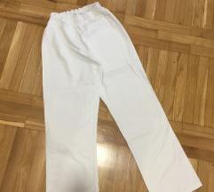 Bele laboratorijske hlače