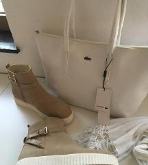 Lacoste torbica + šal + superge