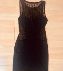 Crna mini obleka XS