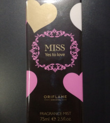 Oriflame MISS yes to love fragrance mist